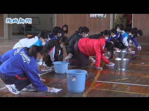 常総・大生小卒業生が母校を清掃 水害乗り越え30日に授業再開