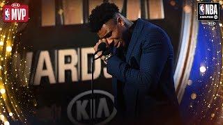 Giannis Antetokounmpo Gets EMOTIONAL During Kia MVP Speech   2019 NBA Awards