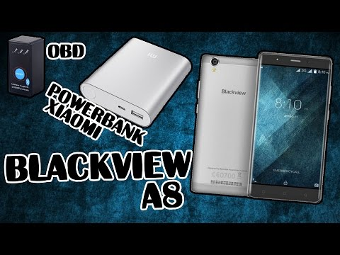 Распаковка и Обзор Blackview A8 Бюджетник за 50$ +2 Посылки Xiaomi Power Bank.Elm327