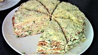 All the guests were delighted with the tender and spicy appetizer of chicken fillet! Chicken cake.