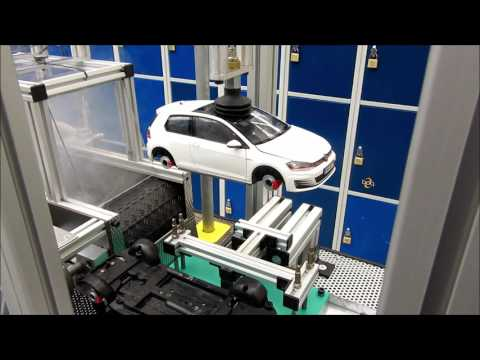 "VW Exponat ""Die Miniatur Produktionslinie"""