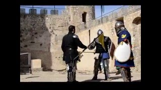 preview picture of video 'VILLENA CUÉNTAME - COMBATE MEDIEVAL FIESTAS DEL MEDIEVO EL RABAL VILLENA 2015'