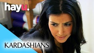 Kim Can't See! | Keeping Up With The Kardashians