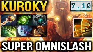 Kuroky OmniSlash with Divine Rapier MeltDown Tanker like Ice Dota 2 7.10
