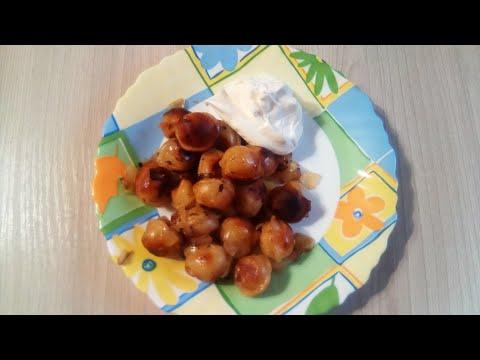 Жареные пельмени от Луча. Fried dumplings.  炸饺子. फ्राइड पकौड़ी