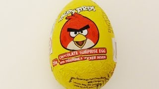 Angry Birds chocolate surprise egg unboxing (part 1)