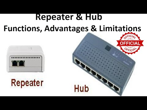 Network REPEATER | Network HUB | FUNCTIONS, ADVANTAGES & LIMITATIONS