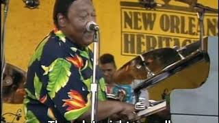 Fats Domino   Poor Me 2001, Subtitled