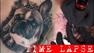 Dog Portrait - Tattoo Time Lapse