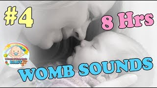 ❤White Noise Lullaby 8 Hours Help Baby Go To Sleep❤ Womb Sounds And Heart Beats – No.4