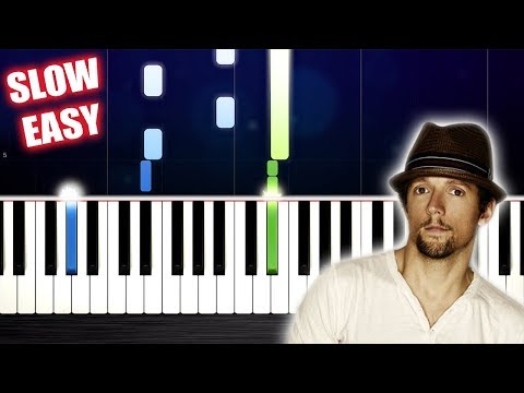 Jason Mraz - I'm Yours - SLOW EASY Piano Tutorial by PlutaX