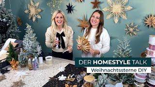 Weihnachtssterne DIY: kreativ mit Wattestäbchen, Papiertüte und Schnee-Spray (DEPOT Homestyle Talk)