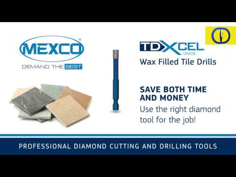Mexco TDXCEL Dry Diamond Tile Drill