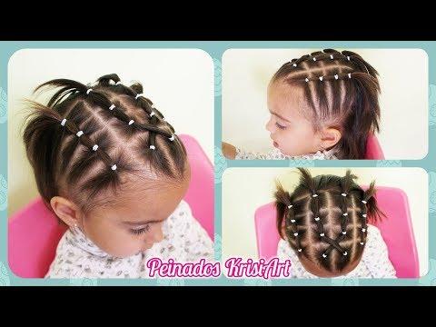 Peinado Con Ligas Para Bebe Menos De 2 Anos Peinados Cabello