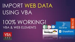 VBA and Web. How to import web data using VBA