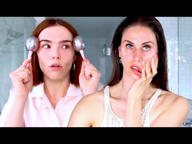 REACTING To Zoey Deutch's Acne-Prone Skin & Makeup Guide | Beauty Secrets | Vogue