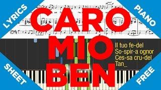 Caro Mio Ben [Piano Totorial]+[Music Sheet]+[Lyrics]