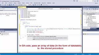Pass an array into a SQL Server stored procedure - C#