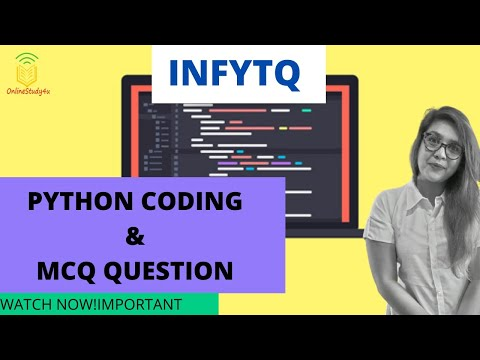 Important Python MCQs from InfyTQ Official Sample Paper| | Must ...