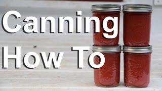 Canning, How To Can Food In Canning Jars - GardenFork.TV