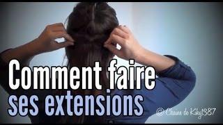 Faire ses extensions à clips soi-même // Tutoriel (HD 720p)