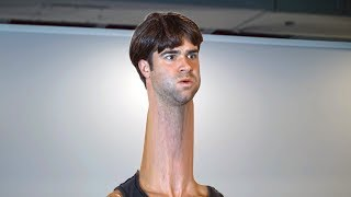 Man with the Longest Neck in the World Works Out