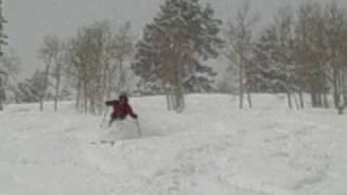 Jeff Skiing Pow at Deer Valley