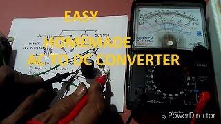 How to make 220v AC to 12v DC Converter. YT-4