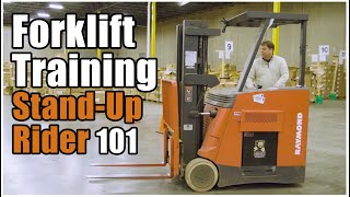 How to Operate a Forklift | Stand-Up Rider Training