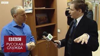 Новосибирский телеканал снимает сюжет о поездке Би-би-си в Новосибирск