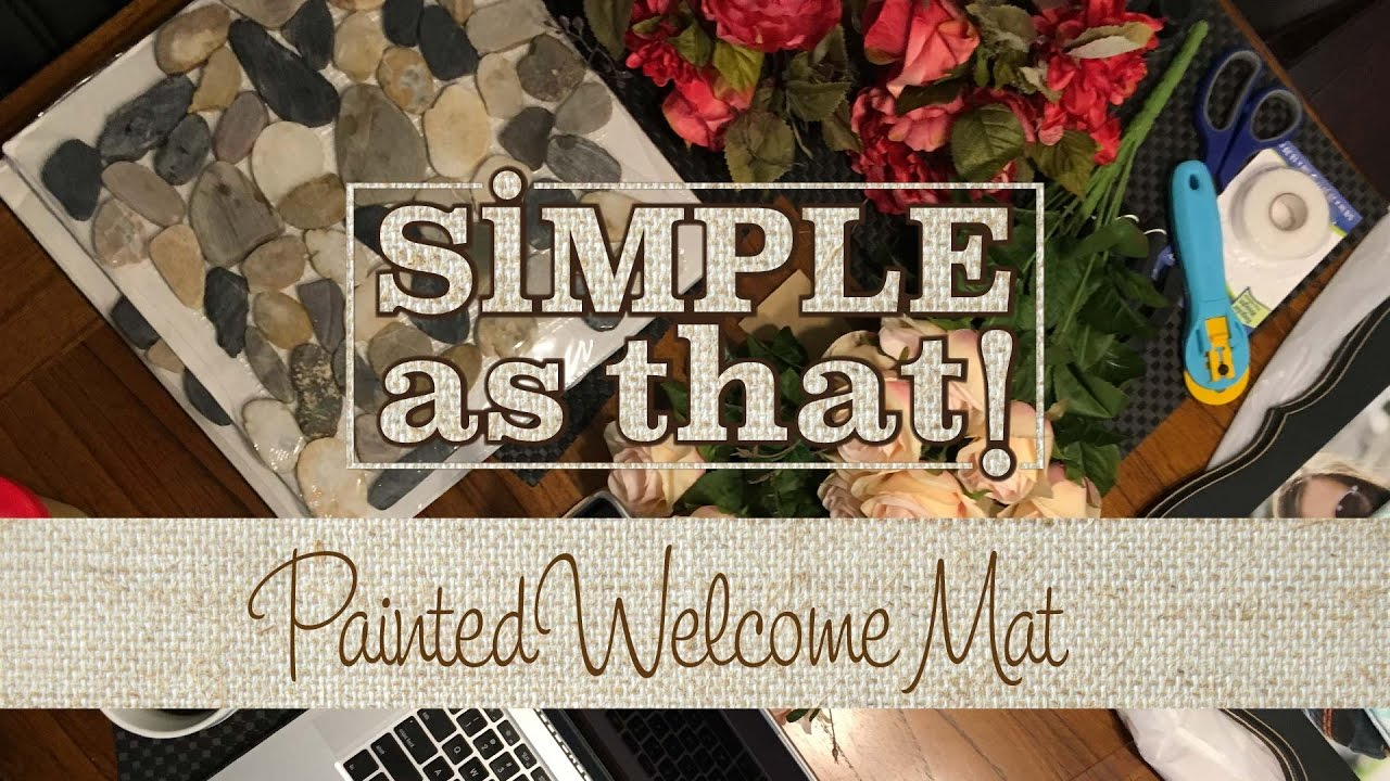 Painted Welcome Mat