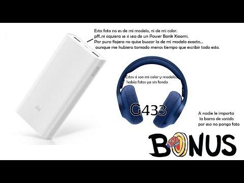 Xiaomi Power Bank 2s 10000 Mah, Logitech G433, Barra de Sonido  GHIA