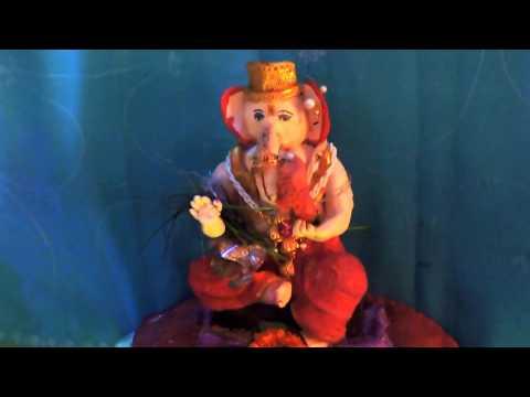 Nahush Waghmare Home Ganpati Decoration Video
