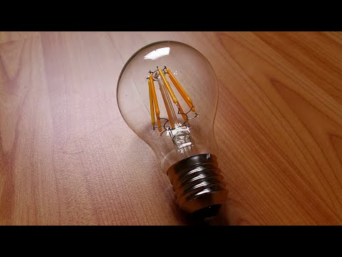 8 Watt E27 LED Filament Lampe im vergleich 60 W 75 W 100 W Glühbirne