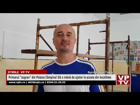 """Primarul """"zugrav"""" din Poiana Câmpina! Dă o mână de ajutor la școala din localitate"""