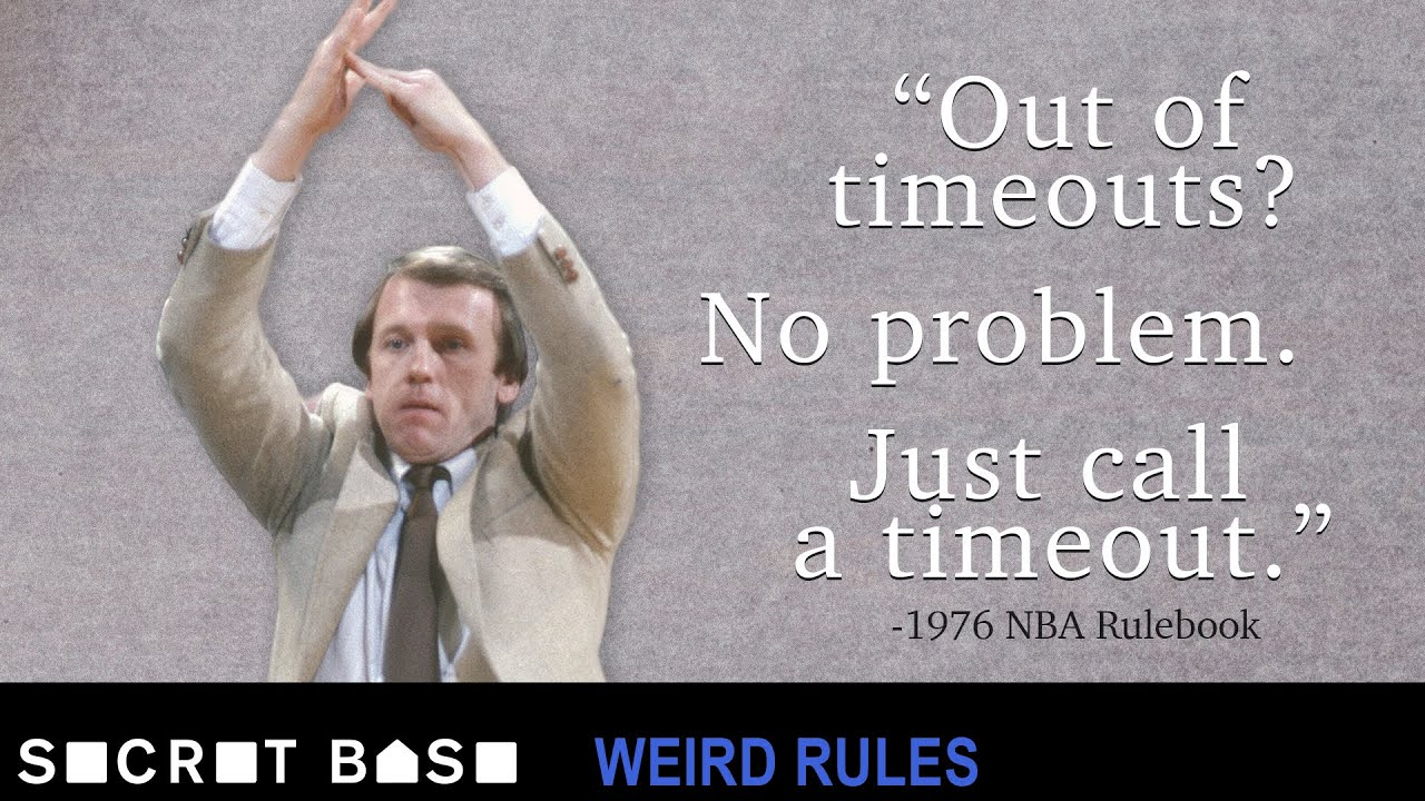 The infinite timeout loophole that almost broke the 1976 NBA Finals   Weird Rules thumbnail