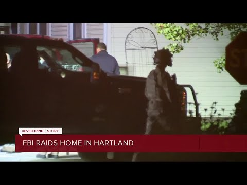 FBI spends hours raiding home in Hartland