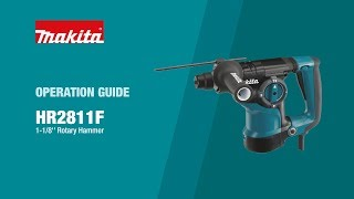 Makita Rotary Hammer Operation Guide (HR2811F) - Thumbnail