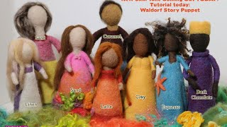 Needle Felt Dolls - New Skin Tone - Tutorial Waldorf Story Puppet