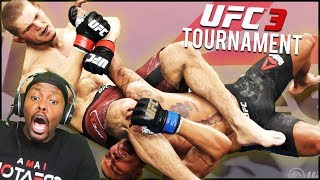 Knockouts & Crap Talk Everywhere! One Of The Most Fun Ninja Tournaments EVER! (UFC 3 Tournament)