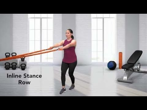 Incline Stance Row