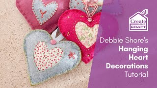 Hanging Heart Decorations Tutorial With Debbie Shore