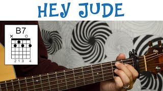 Hey Jude - The Beatles | Easy Guitar Tutorial   - YouTube