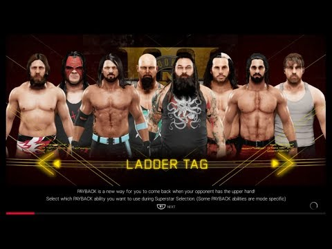 WWE 2K19 NEW FEATURE (FATAL 4 WAY / LADDER TAG MATCH ) PS4 PRO GAMEPLAY