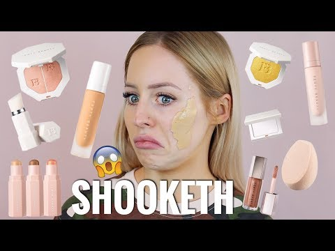 FENTY BEAUTY FOUNDATION, PRIMER, CONTOUR, HIGHLIGHTER REVIEW.. I AM SHOOKETH | KASEY RAYTON