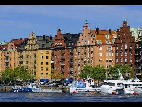 Подходим к Стокгольму. Швеция. Третий день путешествия на пароме.