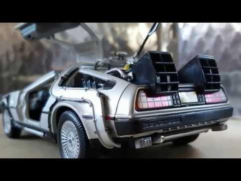 RETOUR VERS LE FUTUR Delorean LK Coupé 1981 1/24 métal miniature Welly 124434