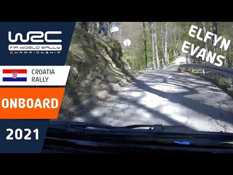 エバンスのオンボード映像 WRC 2021 第3戦ラリー・クロアチア