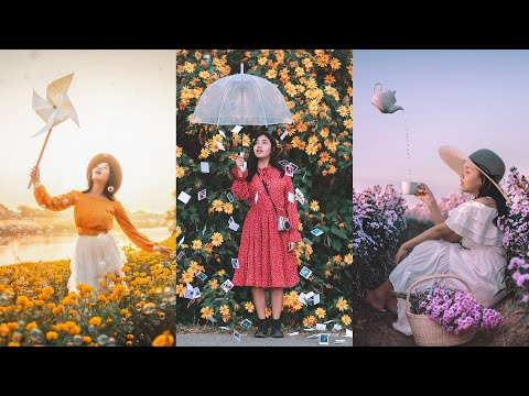 easy photography shoot flower ideas by kanbokeh