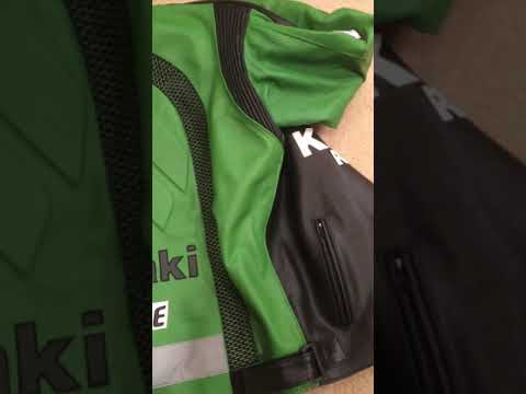 Professional Green Motorcycle Racing Team Leather Jacket (no hump) (collectible item)